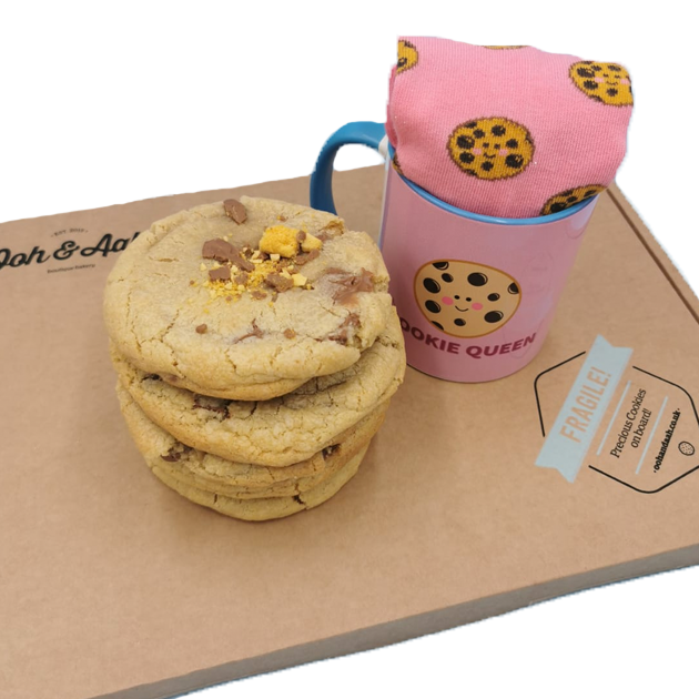 Cookie Box, Mug & Socks Bundle Featured Image