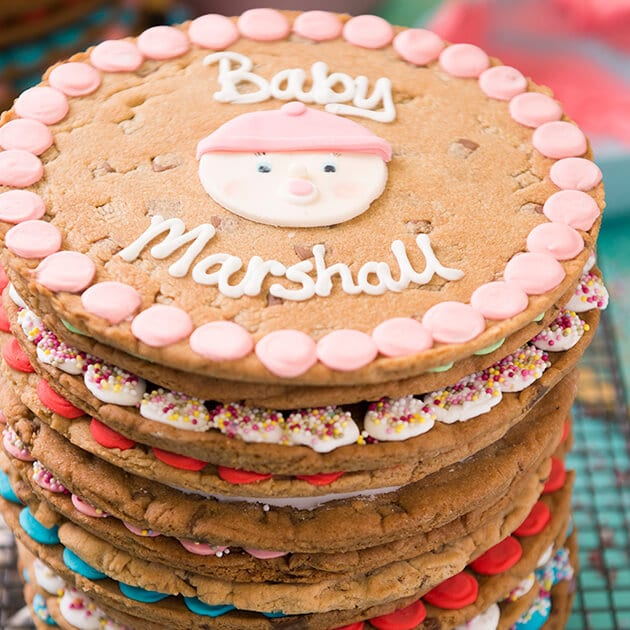 New Baby Girl Giant Chocolate Chip Cookie Gallery Image