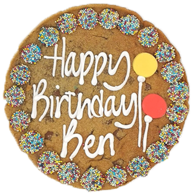 Happy Birthday Blue Giant Chocolate Chip Cookie Featured Image