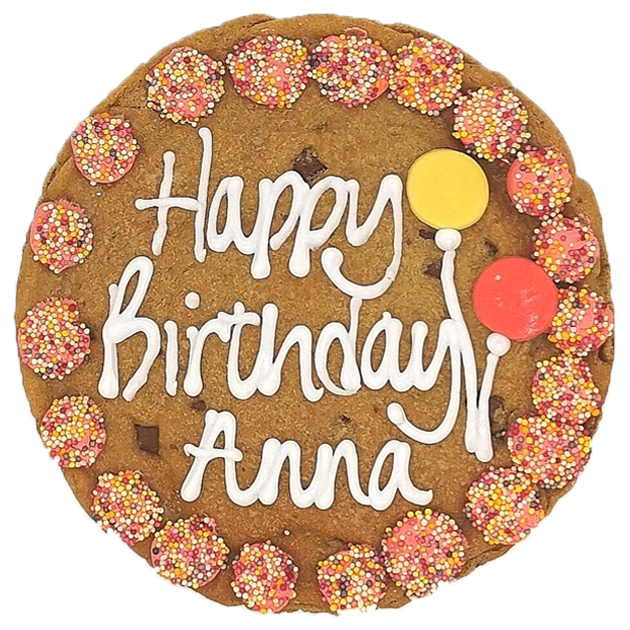 Happy Birthday Pink Giant Chocolate Chip Cookie Featured Image