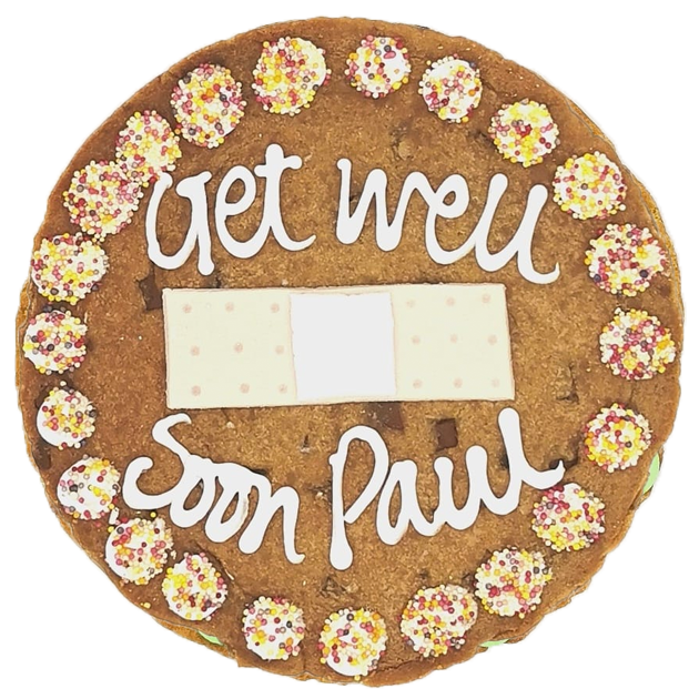 Get Well Soon Plaster Giant Chocolate Chip Cookie Featured Image