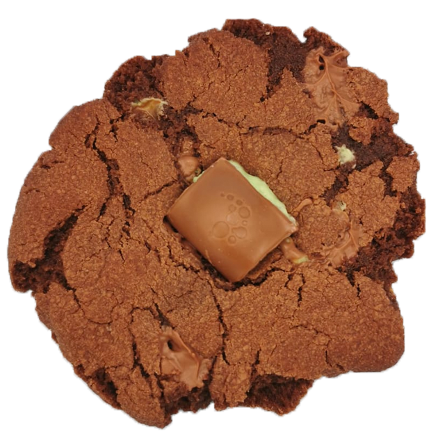Double Choc Mint Aero Stuffed Cookies (Box of 6) Gallery Image
