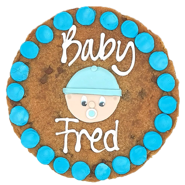 New Baby Boy Giant Chocolate Chip Cookie Featured Image