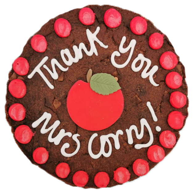 Thank You Teacher Apple Giant Cookie Card Featured Image