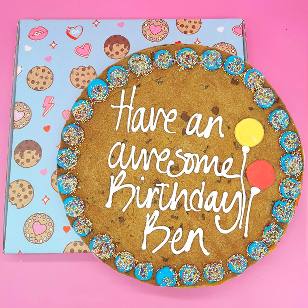 Happy Birthday Blue Giant Chocolate Chip Cookie Gallery Image